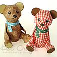 【 KeiCraft Teddy 】「チョコミント」「チェック」
