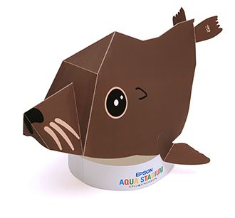 Sea Lion Papercraft Hat